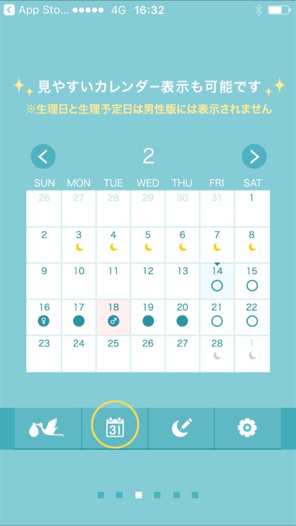 排卵予測アプリ・コウノトリ予測機能