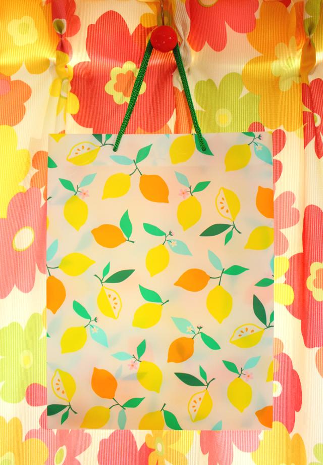Flying tiger レモンのショッピングバッグ