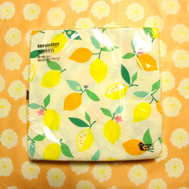 Flying tiger レモンのペーパーナプキン