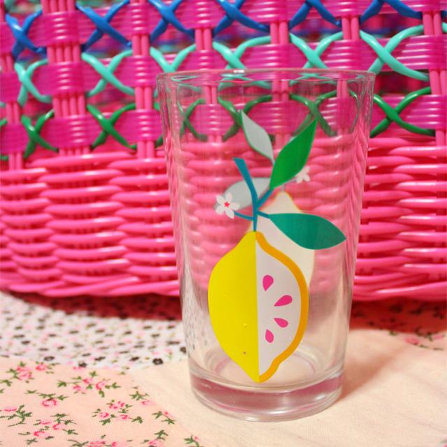 Flying Tiger(フライング・タイガー) ガラスのコップ レモン