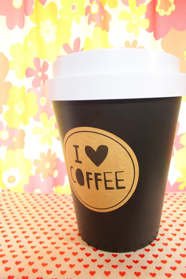 コーヒーカップ型ゴミ箱 [ Flying Tiger ]