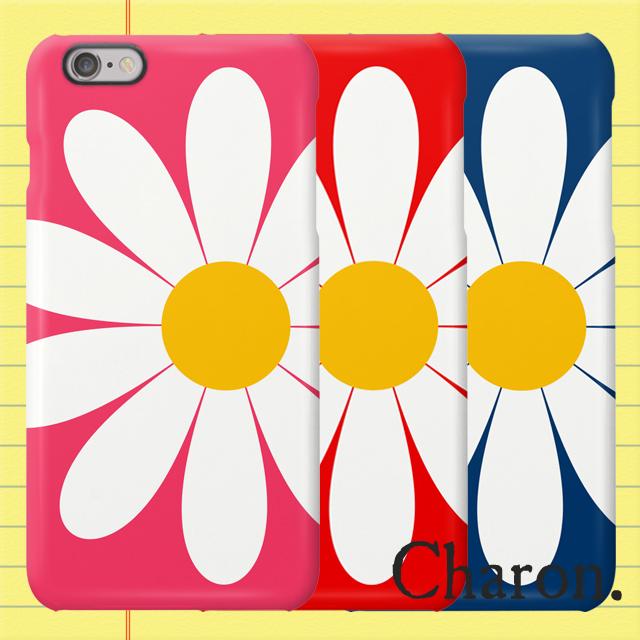 iPhoneケース 白いお花