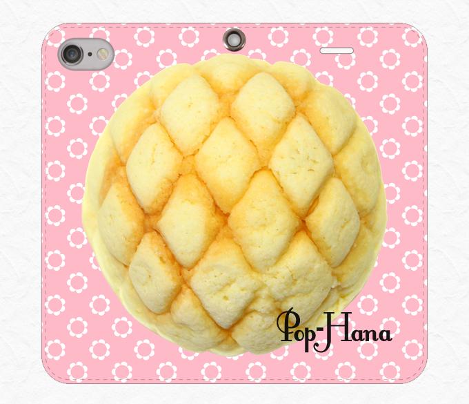 メロンパン ベルトなしiPhoneケース ピンク