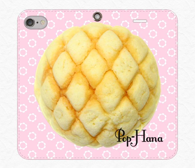 メロンパン ベルトなしiPhoneケース ベビーピンク