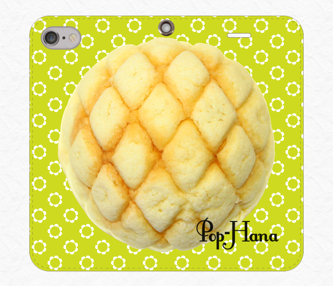 メロンパン ベルトなしiPhoneケース 黄緑