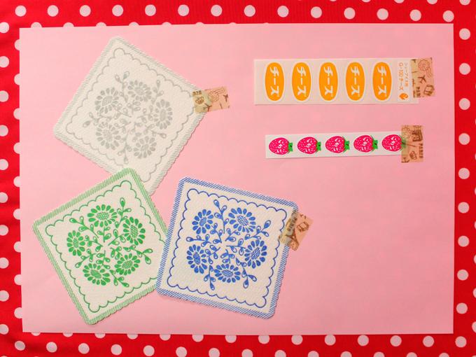山田文具店 味紙セット コースター 食品用シール