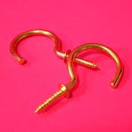 大きな真鍮メッキの吊り金具に惹かれる [ 和気産業 ]