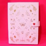 ペタルピンクの可愛いレザーノートブックA5 [ kikki.K ]