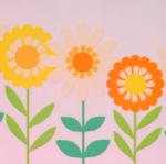 レトロなお花が可愛いフィルムステッカー [ Chocoholic ]