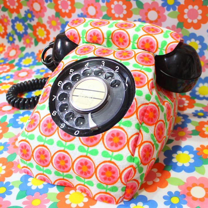 黒電話 ダイヤル式電話 テレフォンカバー