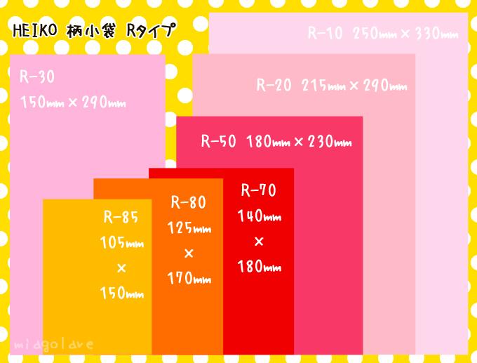 HEIKO 紙袋 Rタイプの規格