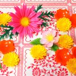 お刺身のアレ*食品装飾用の造花が可愛い。