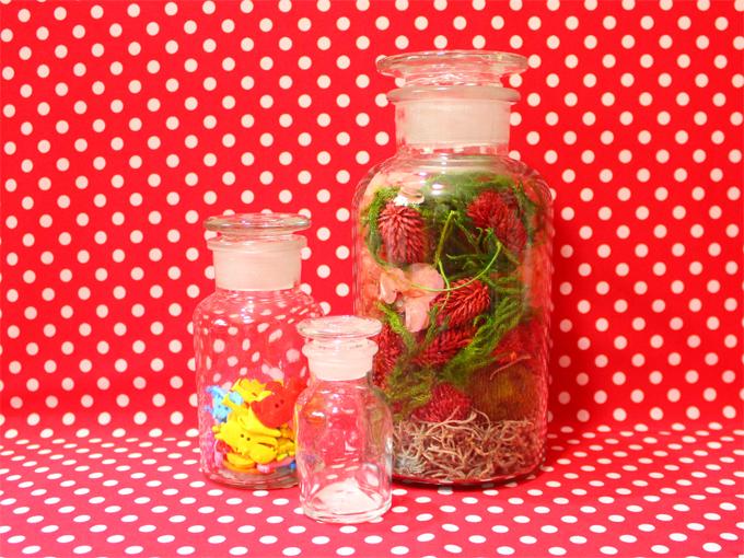 フラワーボトル 薬瓶 メディシンボトル[ salut! ]