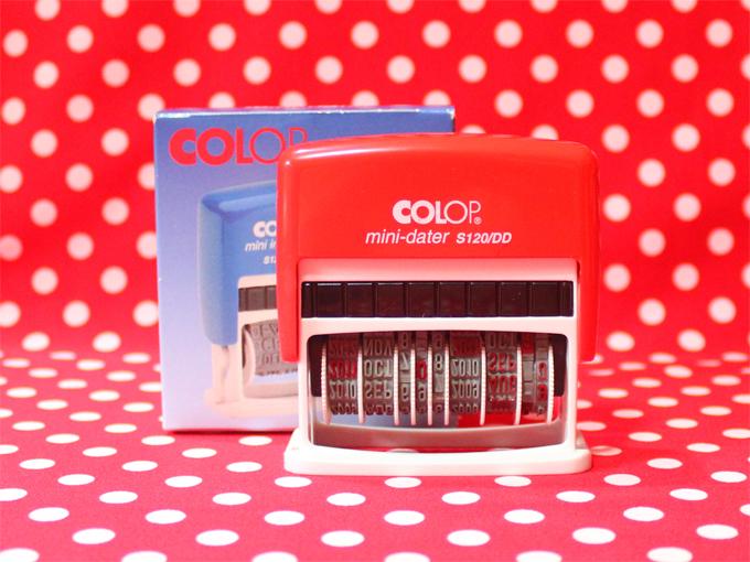 COLOP 回転式日付 ミニデートスタンプ