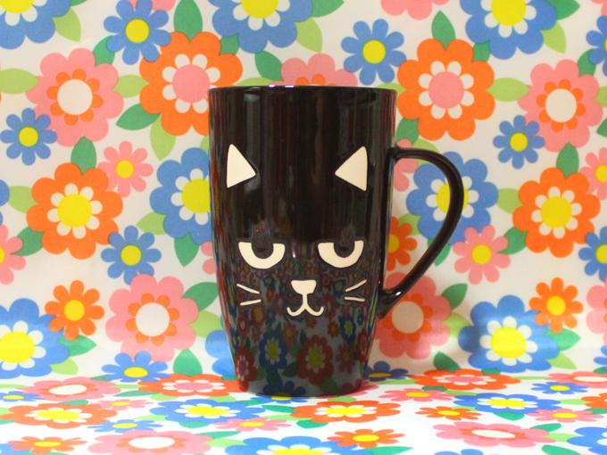 黒猫 マグカップ  [ Flying Tiger ]