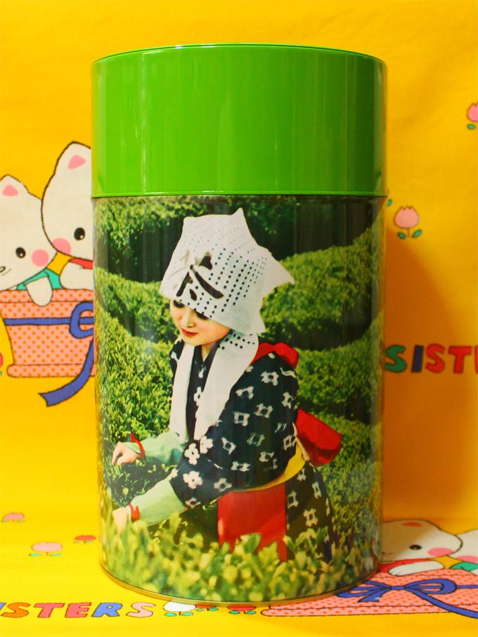 お茶缶 印刷缶 茶摘娘  [ 江東堂高橋製作所 ]