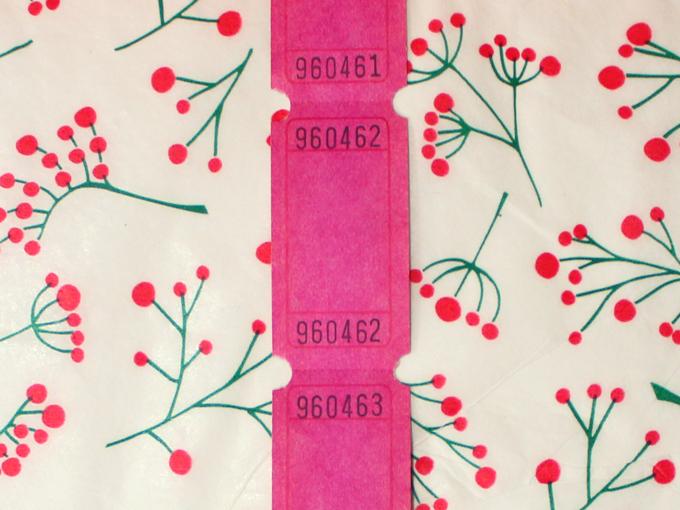シングルロールチケット ブランクチケット ピンク