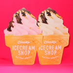 大きなアイスクリームが可愛いダイカットマット [ Can★Do ]