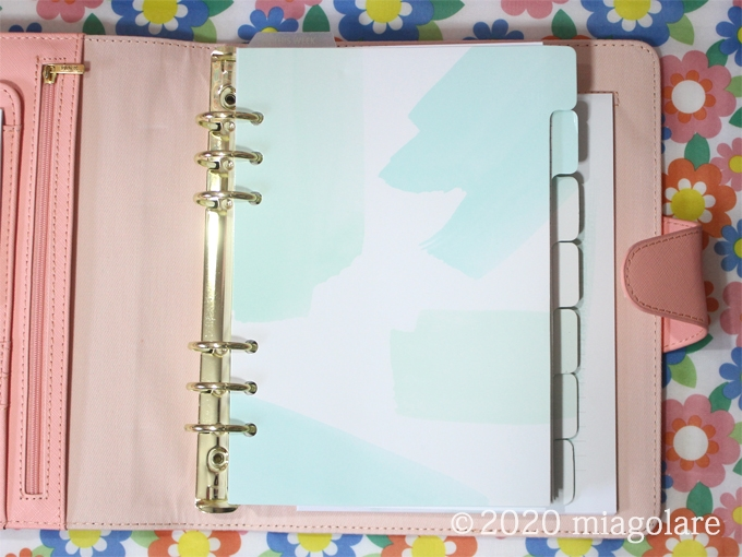 A5 2020 LEATHER TIME PLANNER CORAL: SHE SHINES/CORAL [ kikki.K ]
