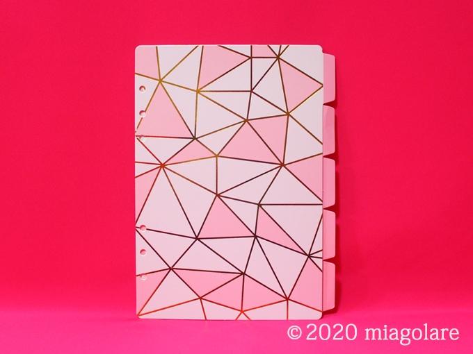 ピンク システム手帳 インデックス A5