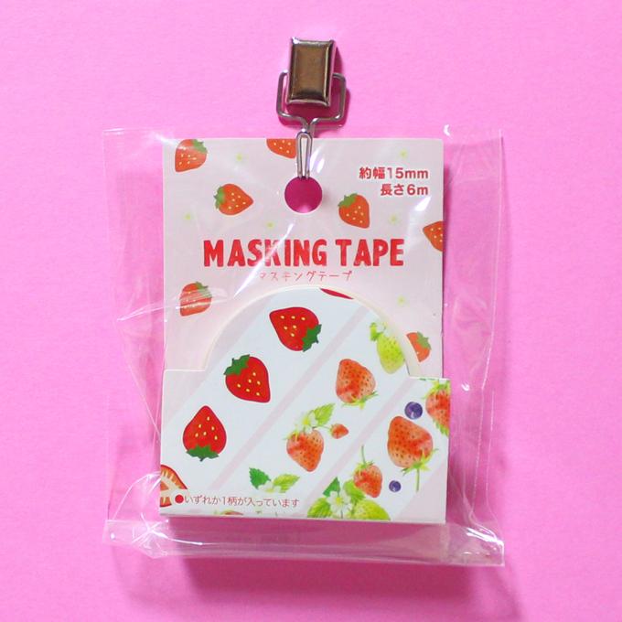 マスキングテープ 15mm×6m イチゴ