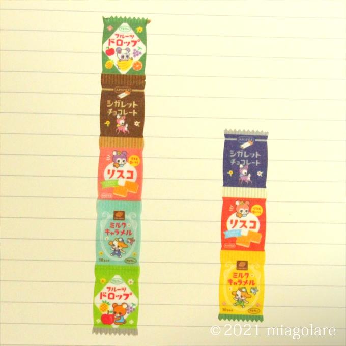 ダイカットマスキングテープ レトロポップ 駄菓子