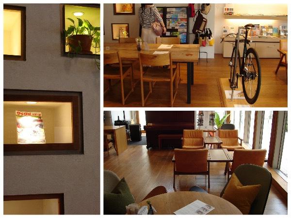 自転車カフェの店内