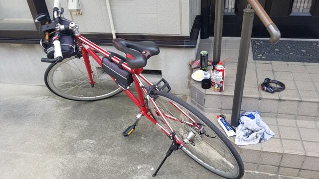 自転車整備 錆落とし