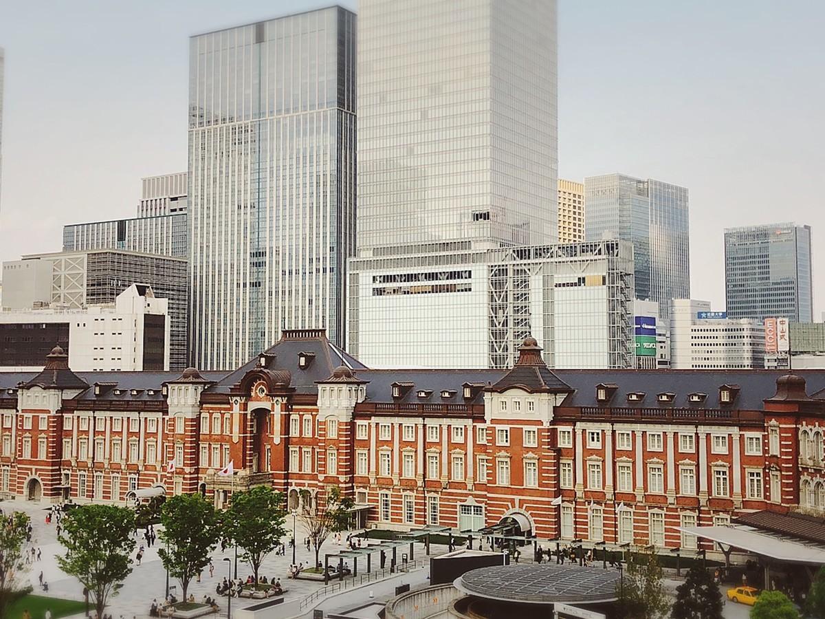 キッテ展望台から見た東京駅