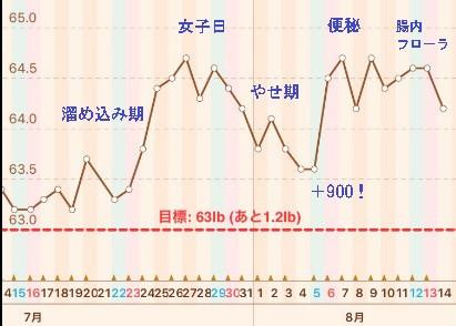 停滞期の体重検証グラフ