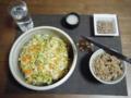 大皿デビューはコールスローサラダ。