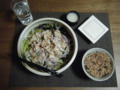 しゃぶしゃぶサラダ1st with 玉ねぎドレッシング。