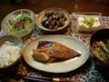 夕食:サバのみりん干