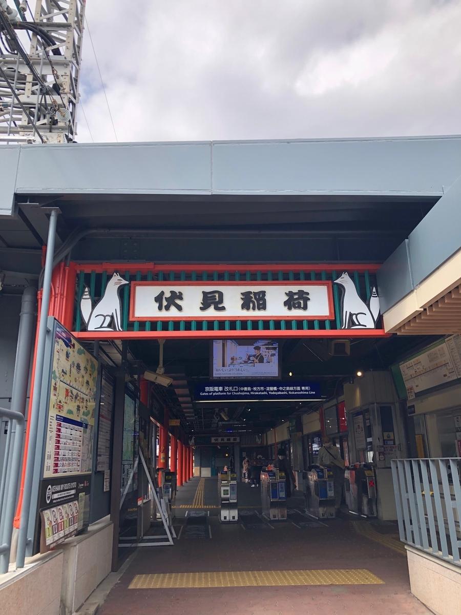 伏見稲荷,京都,kyoto,サイン,京阪電車