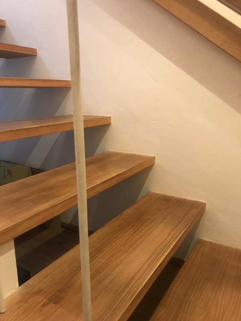 ゆるく上りやすいように設計された階段
