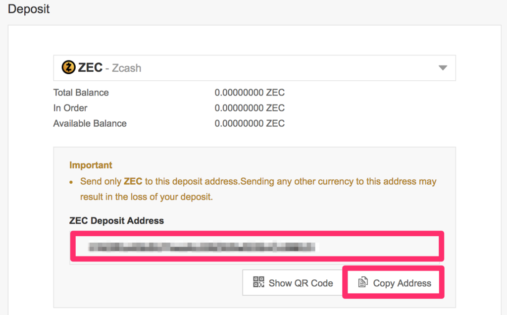 binance-deposit-zcash-address