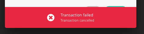ledger-nano-s-transaction-failed