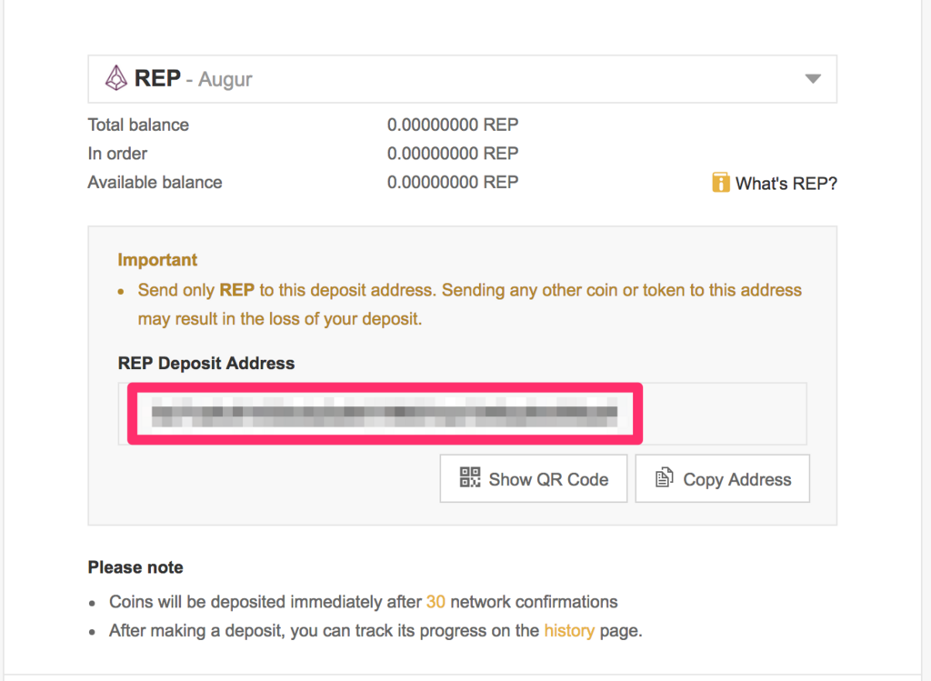 binance-rep-deposit-address