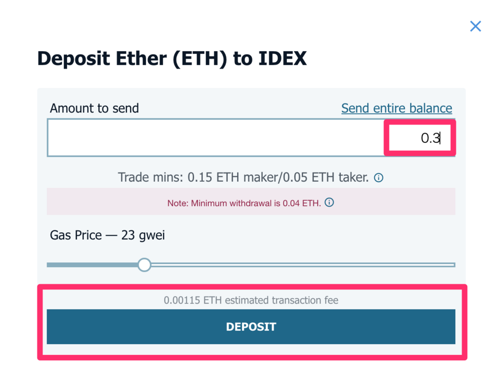 idex-deposit-amount to send