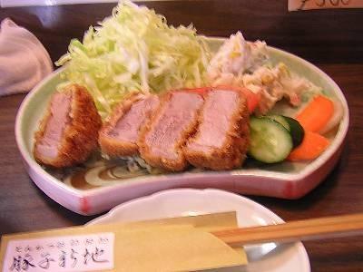ひれかつ定食(2009/02/28)