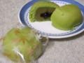 [食_亀屋万年堂]蜜入り抹茶饅頭(2009/10/13)