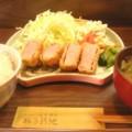 [食_豚子新地]ひれかつ定食(2010/03/06)