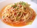 [パステル]ベーコンとキャベツのピリ辛トマトソース(2010/10/25)