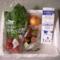パルシステムはじめてセット(産直野菜)、こんせん72牛乳