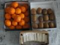 [食]果物と餅(2016/01/04)