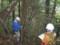 樹高測定の様子