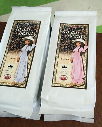 ベトナムコーヒーのブランド「アオザイビューティ」
