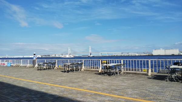 横浜大さん橋岸壁からの眺め