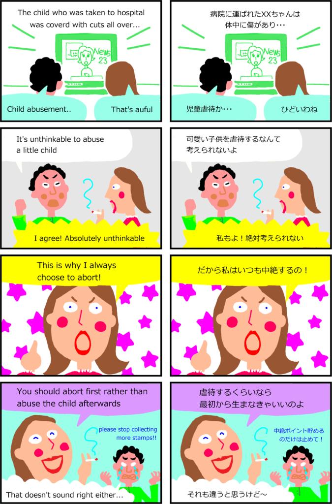 Abuse joke comic manga 4コマ 面白い 英単語