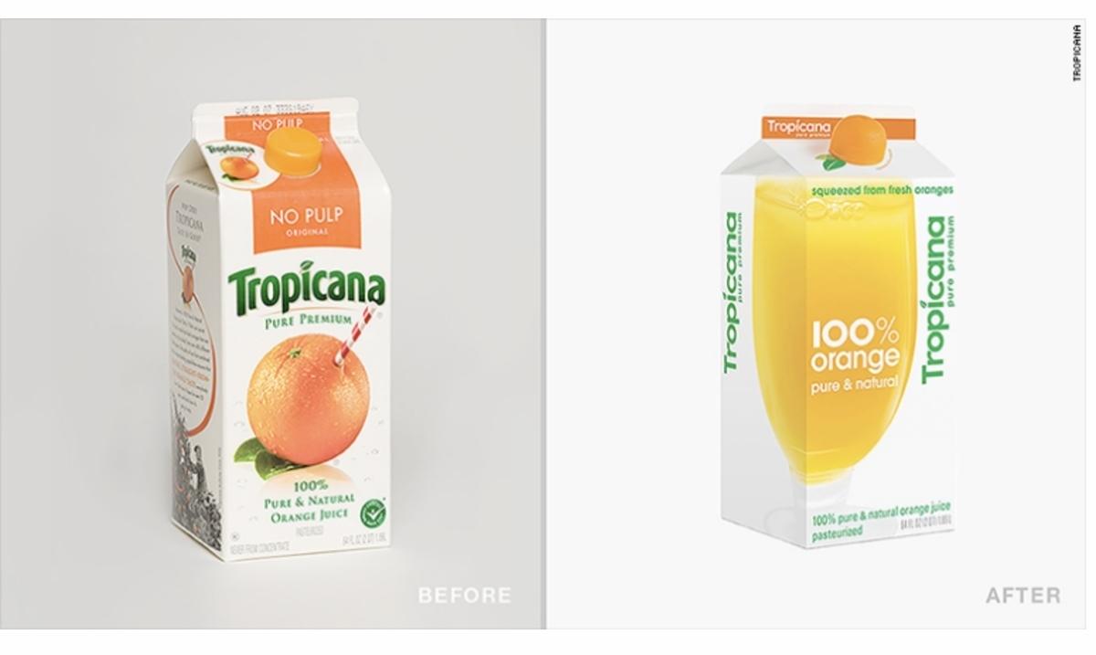トロピカーナのパッケージの変化